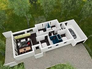 Plan Interieur Maison : linea maison moderne plain pied ~ Melissatoandfro.com Idées de Décoration