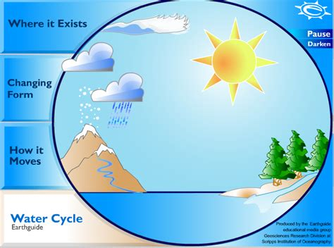 Water Cycle Diagram Earthguide the water cycle content area literacy