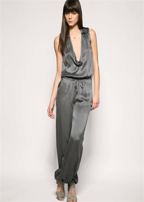 grey jumpsuit womens silk grey jumpsuit for fashion fill
