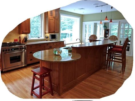 best kitchen layout with island kitchen peninsula with rounded end search 7719