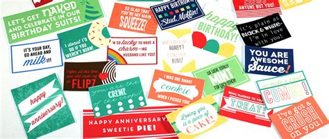 printable snack love notes