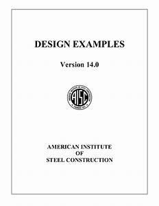 Design Examples Aisc Dise U00f1o En Acero Ejercicios