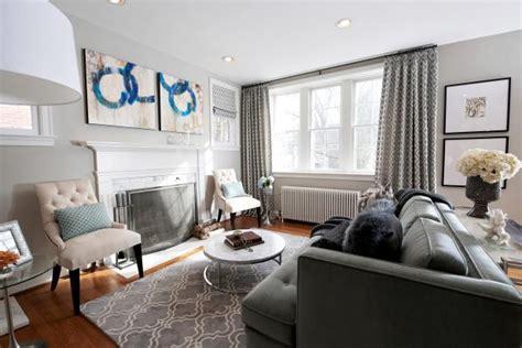 transitional gray living room  charcoal sofa hgtv