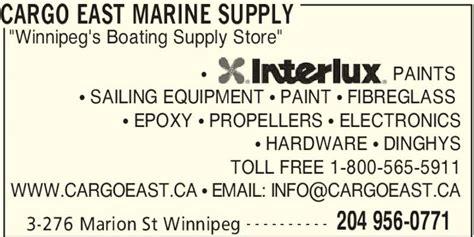 Boat Supplies Winnipeg cargo east marine supply winnipeg mb 3 276 marion st