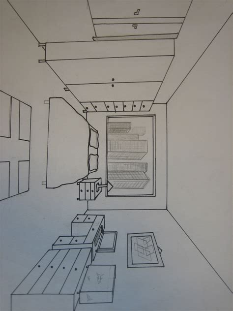 dessin en perspective d une chambre awesome chambre en perspective contemporary
