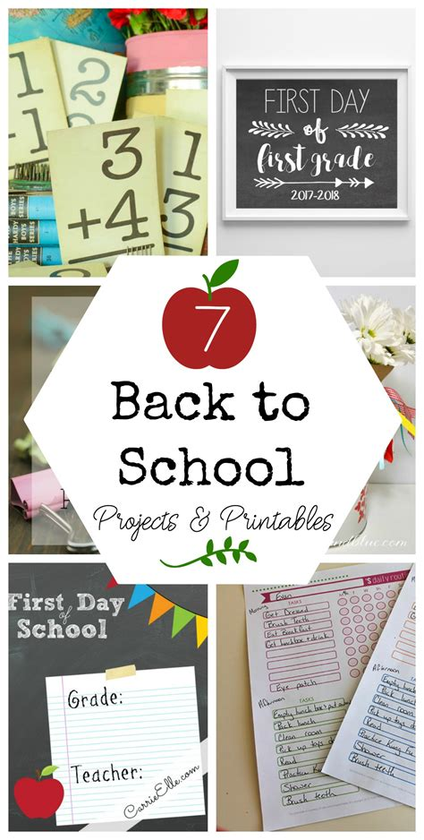7 back to school and 7 back to school projects printables yesterday on tuesday