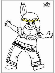 Kleine Indianer 1 Ausmalbilder Briges