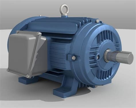 industrial electric motor 3d model cgtrader