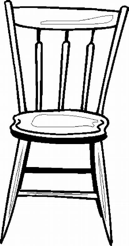 Chair Coloring Furniture Pages