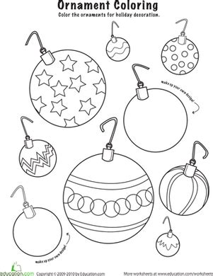 printable christmas ornaments for toddlers ornaments to color worksheet education