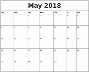 may 2018 free printable calendar templates With free online templates