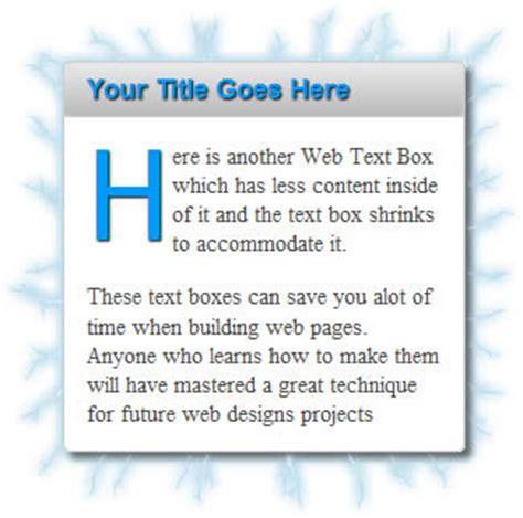 css template box text image create web text boxes css dreamweaver