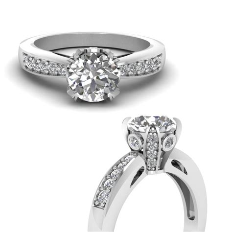 vintage pave wrap engagement ring in 18k white gold fascinating diamonds