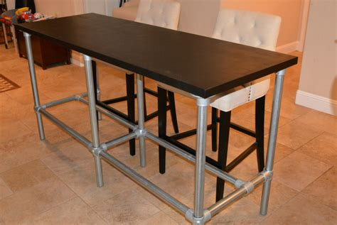 narrow counter height table diy counter height table with pipe legs