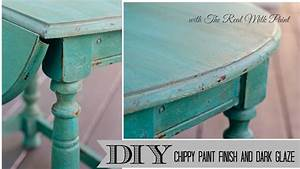 How To Get A Chippy Furniture Finish With Milk Paint And
