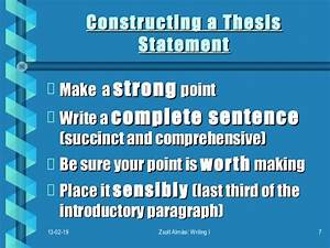 how to construct a thesis