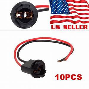 10pcs T10 Harness Plug Connector Wiring Sockets Pigtail