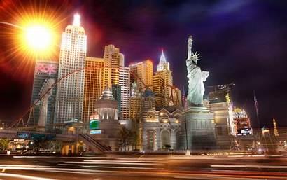 Vegas Las York Desktop Nevada Statue Widescreen