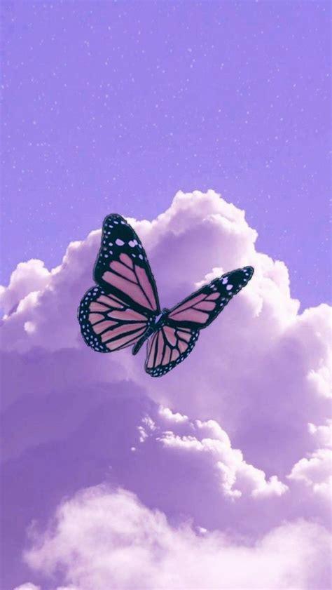 aesthetic butterfly purple wallpapers