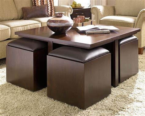 Image result for coffee table with seating cubes. Lazy Boy Coffee Table With Ottomans | Desain furnitur ...