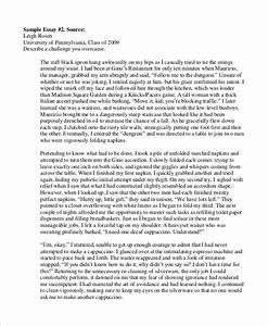 7 college essay examples sample templates With college admission essay examples
