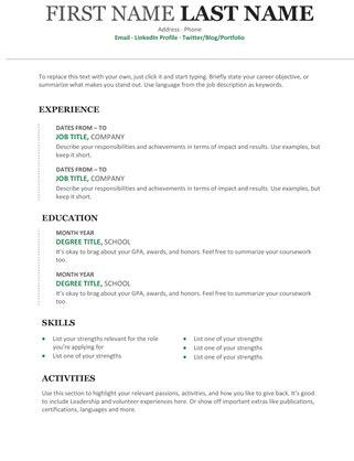 Chronological Resume And Cover Letter by Chronological Resume Modern Design