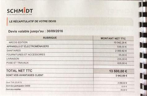 cuisine a 10000 euros avis devis cuisine schmidt 8 messages