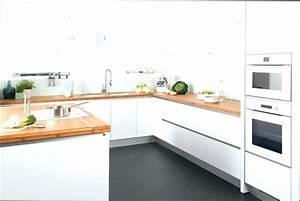 Cuisine Blanche Plan De Travail Bois : cuisine blanche bois et cuisine en cuisine blanc bois noir ~ Preciouscoupons.com Idées de Décoration