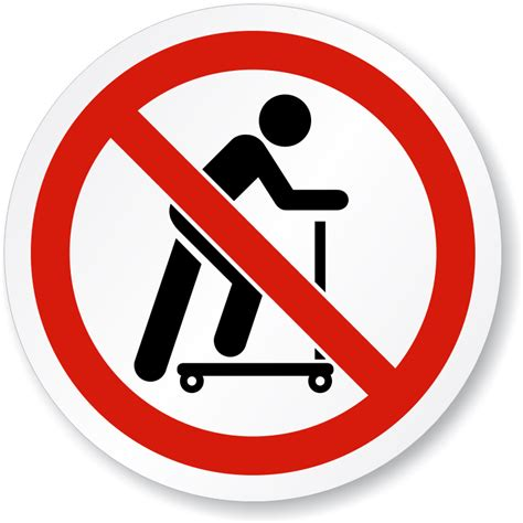 Sign In by No Scooters Symbol Iso Prohibition Sign Sku Is 1175