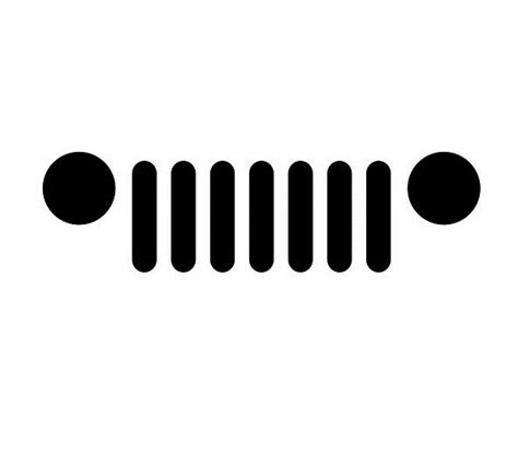 jeep grill sticker minimal jeep grill vinyl decal oracal logo symbol car