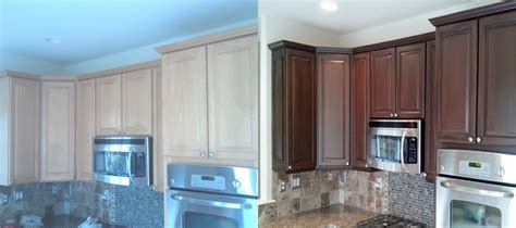 Restaining Oak Cabinets Lighter by How Does Painting Kitchen Cabinets Increase The Value Of