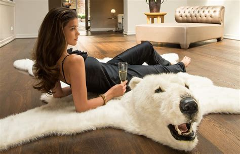 add some classic white to your home with fluffy polar bear rug homecrux