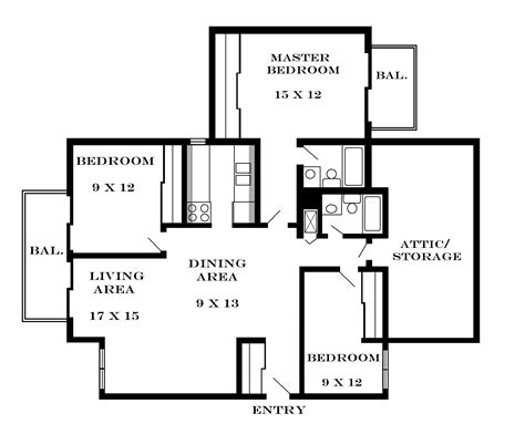 3 floor plans 3 bedroom floor plan with dimensions 3 bedroom floor plans