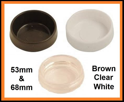 Bed Caster Cups by Castor Cups Furniture Floor Protector Brown White Clear
