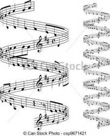 Staff Music Notes Clip Art