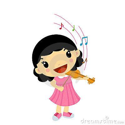 girl playing violin stock image image