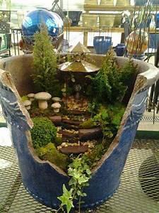 Stunning Ideas To Build A Fairy Tale Garden In A Broken