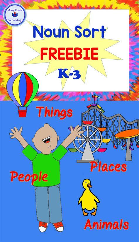 noun sort freebie    images nouns activities