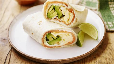 Full of protein, fiber and veggies! Smoked Salmon Breakfast Burritos - Mexican Recipes - Old ...