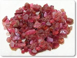 100% Untreated Natural Madagascar Red Spinel Rough