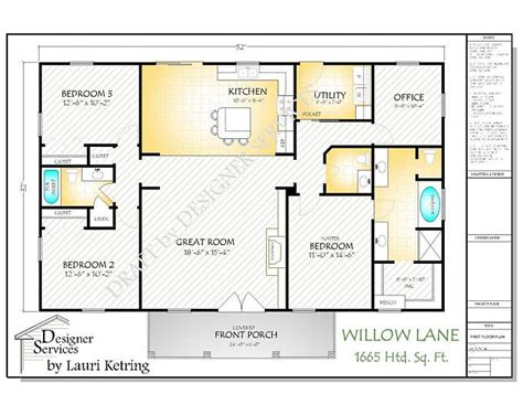 willow lane ii house plan open concept floor plans barndominium floor plans floor plans