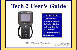 Gm Tech 2 User Manual