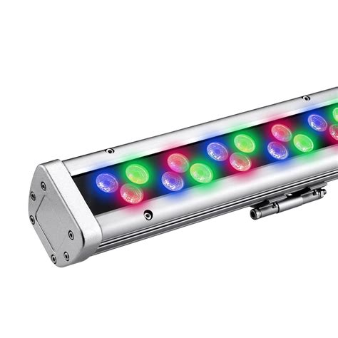 bright led flashlight 96w dimmable led wall washer outdoor rgb light bar le