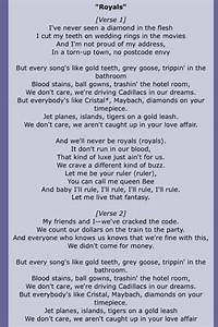 Royals lyrics by Lorde   A penny for your thoughts   Pinterest