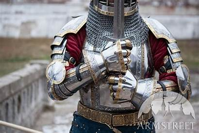 Armor Medieval Armstreet Guard Sca Gauntlets Knight