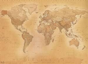 Giant vintage world map wallpaper murals Online store