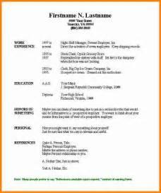 basic resume sle free 3 free printable resume templates microsoft word budget template