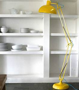 Yellow modern floor lamps for your home designs for Giant floor lamp yellow