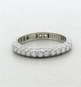 harry winston diamond platinum wedding band ring at 1stdibs With harry winston wedding rings