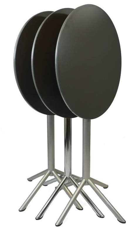 round high top table folding top table suitable for outdoors high table with